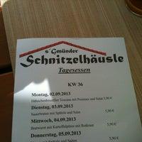 Photo taken at Schnitzelhäusle by Stephan E. on 9/3/2013