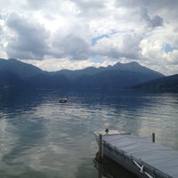 Photo taken at Steinbach am Attersee by stefanie w. on 6/1/2014