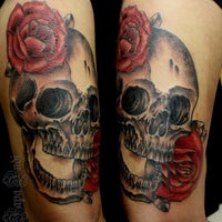 Photo taken at Indi Tattoo by Japa I. on 9/4/2013