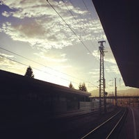 Photo taken at Bahnhof Hallein by Jens B. on 10/23/2013