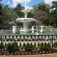 Photo taken at Forsyth Park by Tracy P. on 4/9/2013