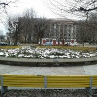Photo taken at Rožu laukums by Ilze Z. on 3/1/2013