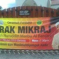 Photo taken at Masjid Al-Hijrah by Mohd Khairul Nizam on 6/11/2013