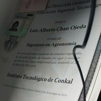 Photo taken at Tecnológico de conkal by Luis C. on 10/20/2014