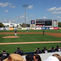 Photo taken at George M Steinbrenner Field by Bobby T. on 2/28/2013