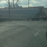 Photo taken at Railroad Crossing - New York & Pine by DZ 1641 A. on 3/22/2014