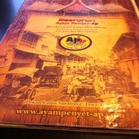 Photo taken at Restoran Ayam Penyet-AP by Beep 💐 on 7/27/2013