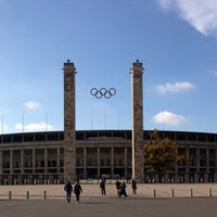 Photo taken at Olympiastadion by Gregor K. on 10/13/2013