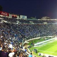 Photo taken at Estadio Azul by Angeles P. on 2/13/2013