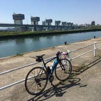 Photo taken at 淀川大堰管理橋 by Akira N. on 4/29/2018