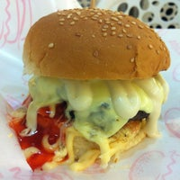 Photo taken at Burger Bakar Abang Burn by hairulshafik on 2/17/2013