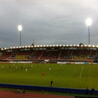 Photo taken at Stade olympique de la Pontaise by Raphaël D. on 5/8/2013