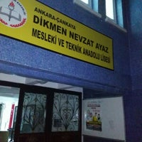 Photo taken at Dikmen Nevzat Ayaz Mesleki ve Teknik Anadolu Lisesi by Murat Can S. on 12/7/2015