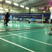Photo taken at New Vision Badminton Academy by Haris N. on 9/26/2012