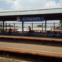Photo taken at Stasiun Citayam by Diana S. on 3/7/2016