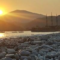 Photo taken at Belcekız Plajı by Rüstü B. on 7/17/2014
