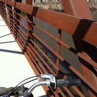 Photo taken at cannon river bridge by Jennifer W. on 4/21/2014
