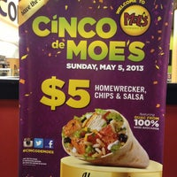 Photo taken at Moe's Southwest Grill by Kimberly K. on 5/5/2013