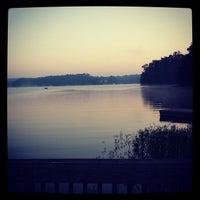 Photo taken at Lake Tobosofkee by Brian W. on 10/5/2013