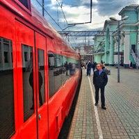 Photo taken at Aeroexpress Terminal at Belorusski Railway Station by David A. on 4/30/2013