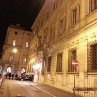 Photo taken at Palazzo Grazioli by Anton P. on 1/25/2013