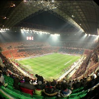 "Photo taken at Stadio San Siro ""Giuseppe Meazza"" by Barsukss on 2/15/2013"