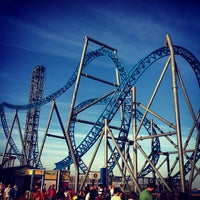 Photo taken at Iron Shark Rollercoaster by Joey M. on 1/27/2013