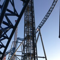 Photo taken at Iron Shark Rollercoaster by Joey M. on 1/26/2013