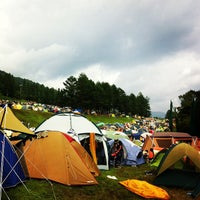 Photo taken at Fuji Rock Festival '13 Camp Site by Noriko T. on 7/28/2013