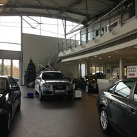 Photo taken at Audi Showroom by Stephanie D. on 1/7/2013