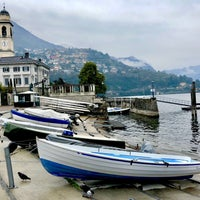Photo taken at Lungolago di Cernobbio by 🎧 on 4/9/2018