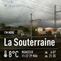 Photo taken at Gare SNCF de La Souterraine by Stéphan B. on 5/29/2013