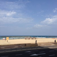 Photo taken at Yaffo Beach by Sergey D. on 3/9/2014