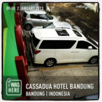 Photo taken at Cassadua Hotel Bandung by T&A on 1/2/2013