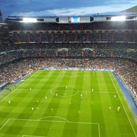 Photo taken at Santiago Bernabéu Stadium by Clara M. on 4/30/2013