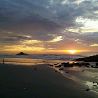Photo taken at Praia do Sonho by Og S. on 2/9/2013