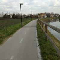 Photo taken at Fine della pista ciclabile by Caterina K. on 2/9/2013