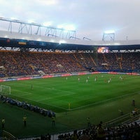 Photo taken at Metalist Stadium by Tatyanka G. on 5/22/2013