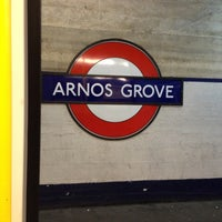 Photo taken at Arnos Grove London Underground Station by Jace W. on 2/7/2013