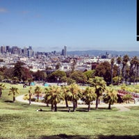 Photo taken at Mission Dolores Park by Brandy H. on 8/22/2013