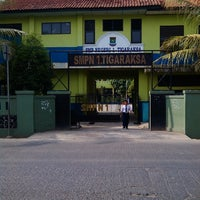Photo taken at SMPN 1 Tigaraksa by Guru O. on 10/16/2013