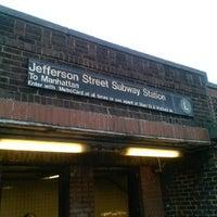 Photo taken at MTA Subway - Jefferson St (L) by Aerik V. on 6/18/2013