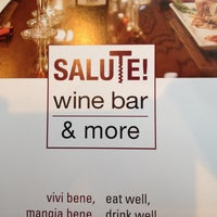 Photo taken at Salute wine bar & more by Wes D. on 4/3/2014