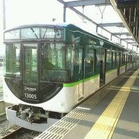 Photo taken at Keihan Uji Station (KH77) by hideaki m. on 4/26/2013