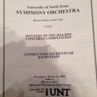 Photo taken at UNT Murchison Performing Arts Center by Sam M. on 3/12/2015