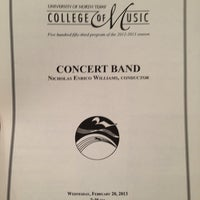 Photo taken at UNT Murchison Performing Arts Center by Sam M. on 2/21/2013