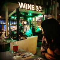 Photo taken at WINE 33 By Singha by Sikran K. on 1/30/2015