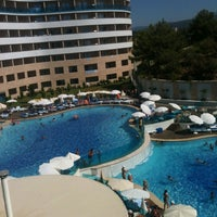 Photo taken at Water Planet Deluxe Hotel & Aquapark by Sevtap S. on 7/26/2013