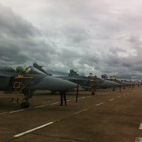 Photo taken at Wing 7 Surat Thani Royal Thai Air Force Base by Ni-on S. on 9/11/2013
