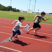 Photo taken at Eglin Field House And Track by Lissa on 5/17/2014